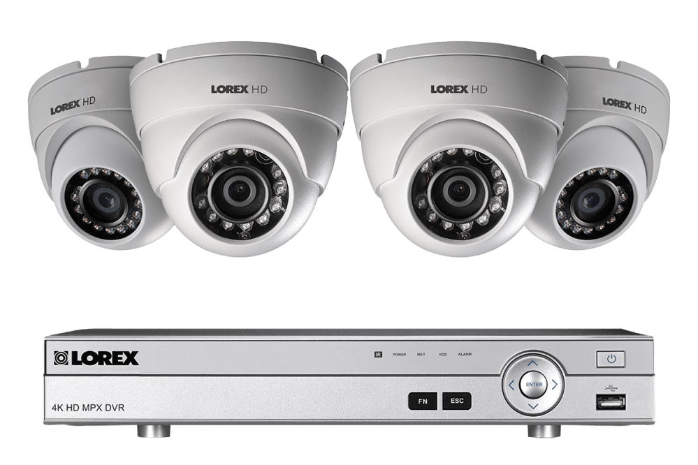medium resolution of 1080p hd home security system with 4 outdoor dome cameras