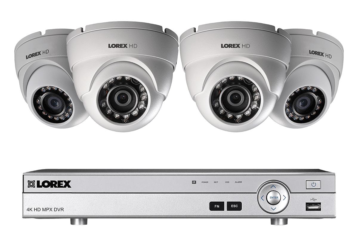 hight resolution of 1080p hd home security system with 4 outdoor dome cameras