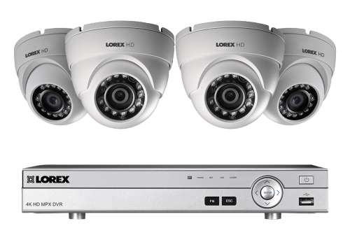 small resolution of 1080p hd home security system with 4 outdoor dome cameras
