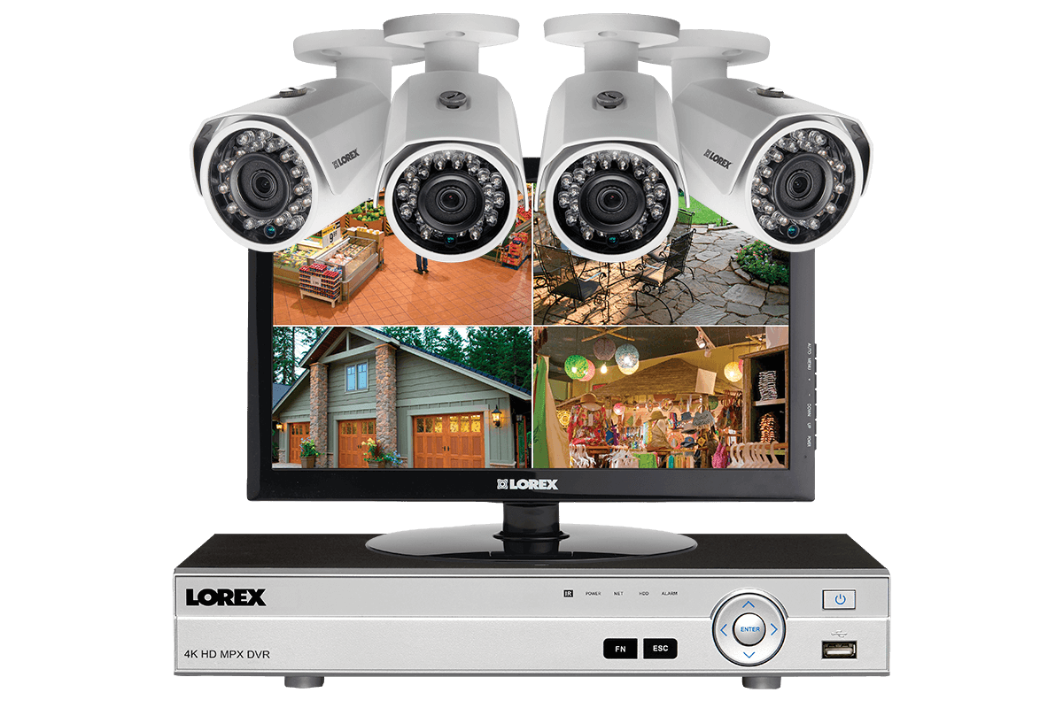 hight resolution of 1080p hd complete 4 camera home security system with monitor