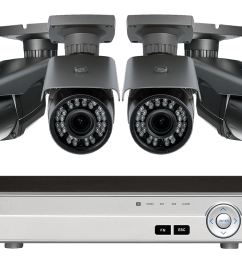 1080p hd home surveillance system with 4 zoom lens security cameras [ 1200 x 800 Pixel ]