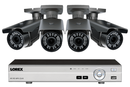 small resolution of 1080p hd home surveillance system with 4 zoom lens security cameras