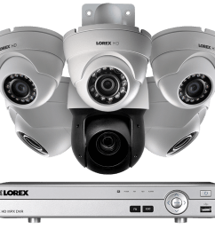 hd cctv security system with 1080p dome cameras and 720p ptz camera [ 1200 x 800 Pixel ]