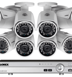 1080p camera system with 8 channel dvr and 8 1080p metal outdoor cameras 150ft night [ 1200 x 800 Pixel ]