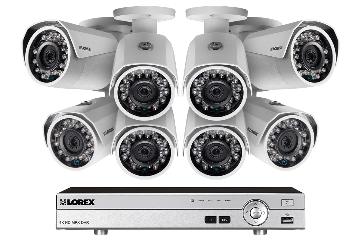 hight resolution of 1080p camera system with 8 channel dvr and 8 1080p metal outdoor cameras 150ft night