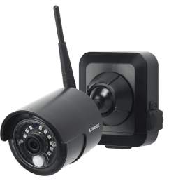 1080p outdoor wireless camera system 4 rechargeable wire free battery powered black cameras 80ft [ 1200 x 800 Pixel ]