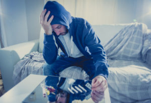 Misery of addiction when you try to get high and kick depression without medical supervision.