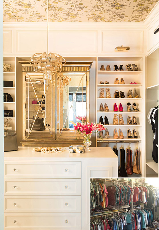 For Example This Walk In Closet Had No Organization And Zero Style We Designed Custom Cabinetry Optimal Storage Added Beautiful Elements Like A