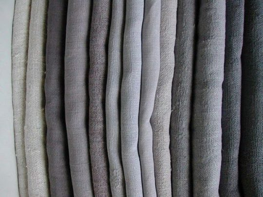 fabric in hues of grey