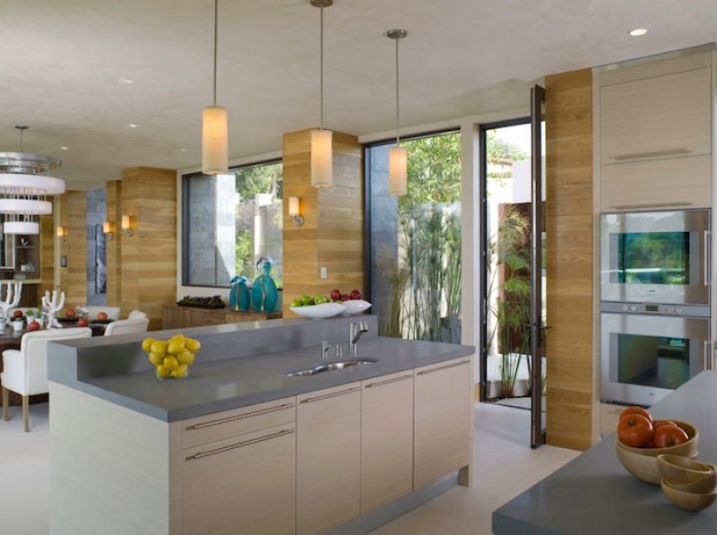 a modern eco friendly kitchen in los angeles