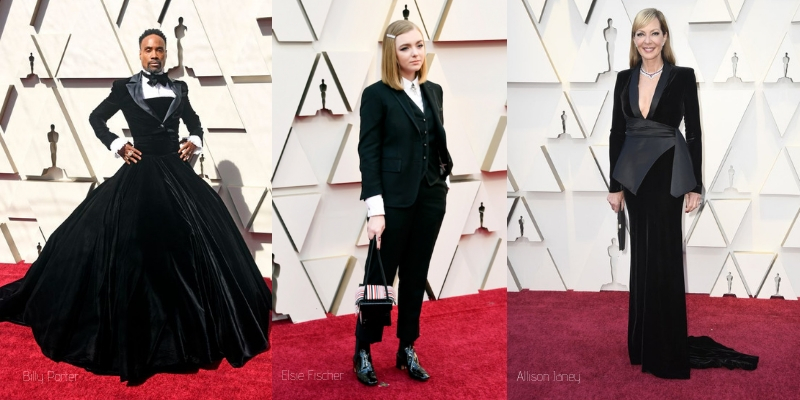 Masculine and Retro looks on the oscar red carpet 2019
