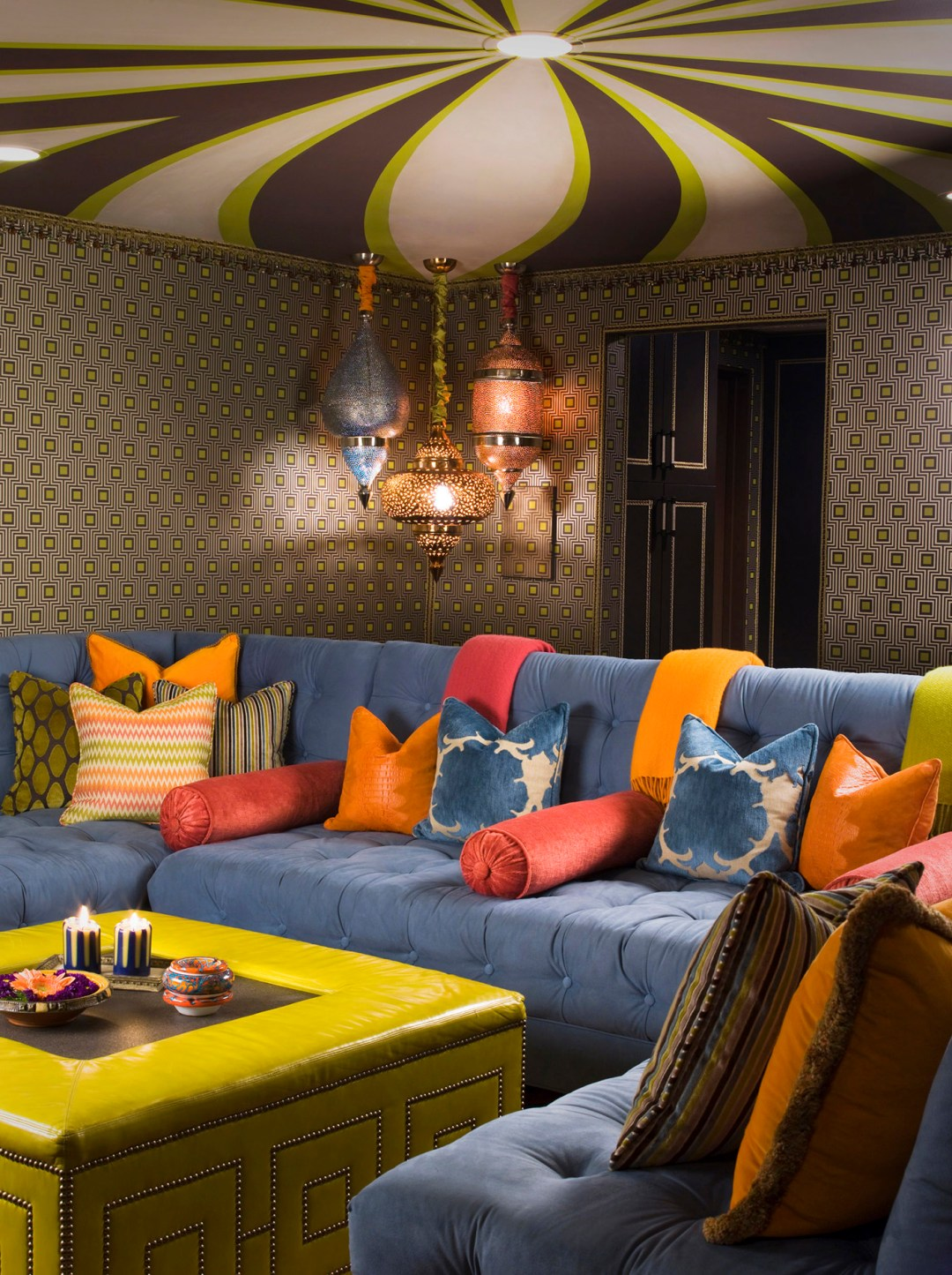 Camp in Interior design - Austin Powers Goes to Spain inspired home in Hollywood Hills