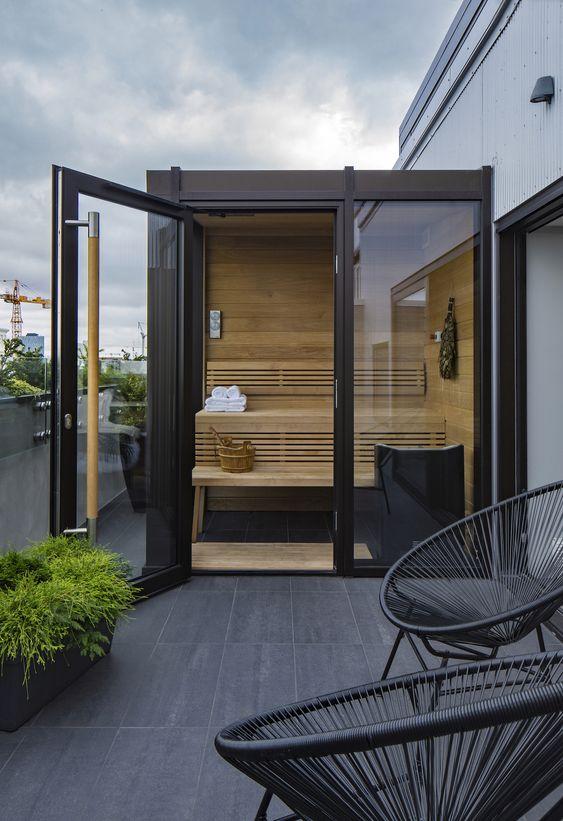Outdoor Home Sauna Design