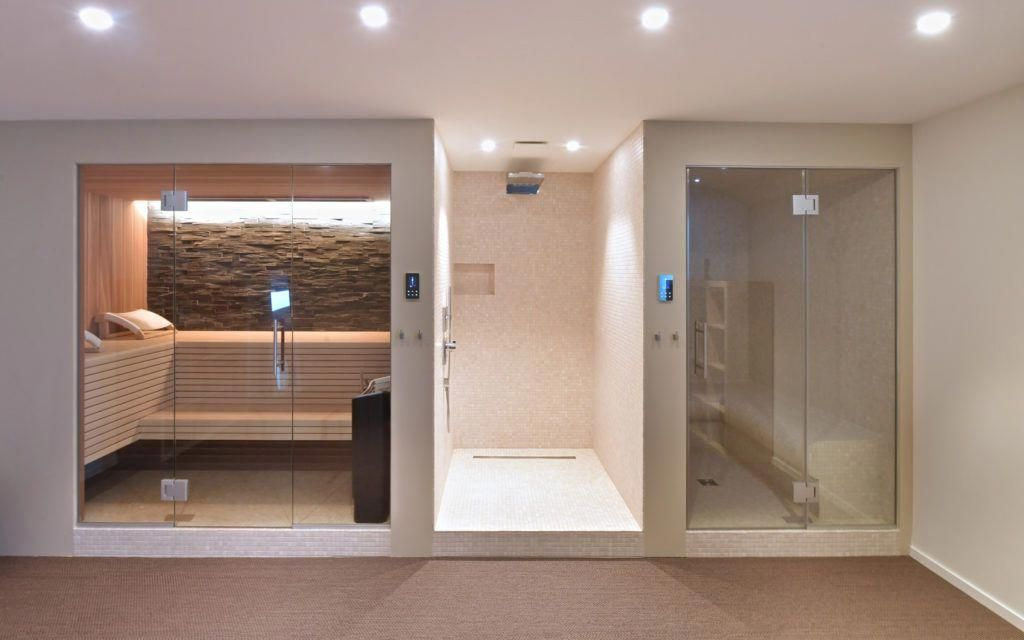 Custom Home Sauna Design with Wet Dry and Shower