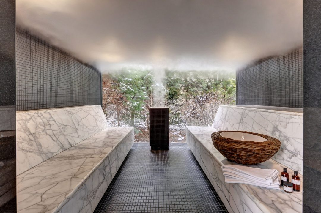 Custom Home Sauna Design Stone Inspiration