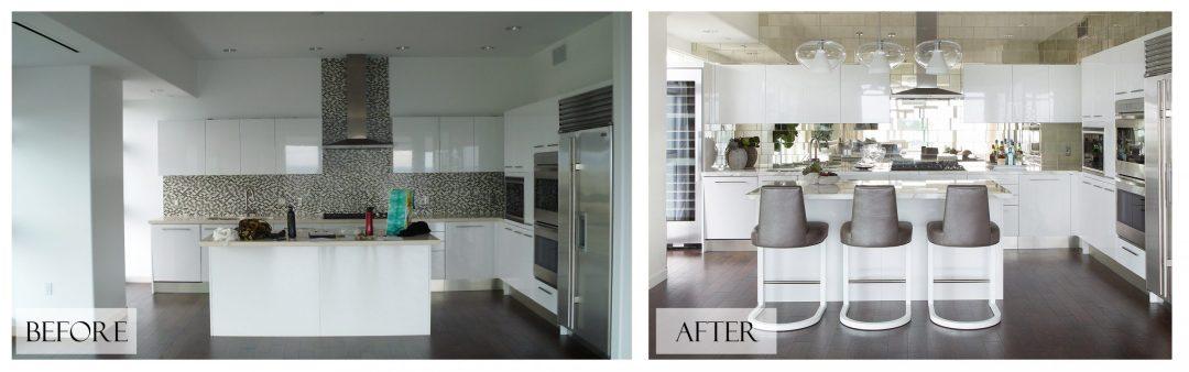 Top San Diego Interior Designer Lori Dennis Inc Before and After Kitchen
