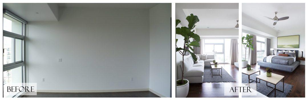 Top San Diego Interior Designer Lori Dennis Inc Before and After Beach Condo