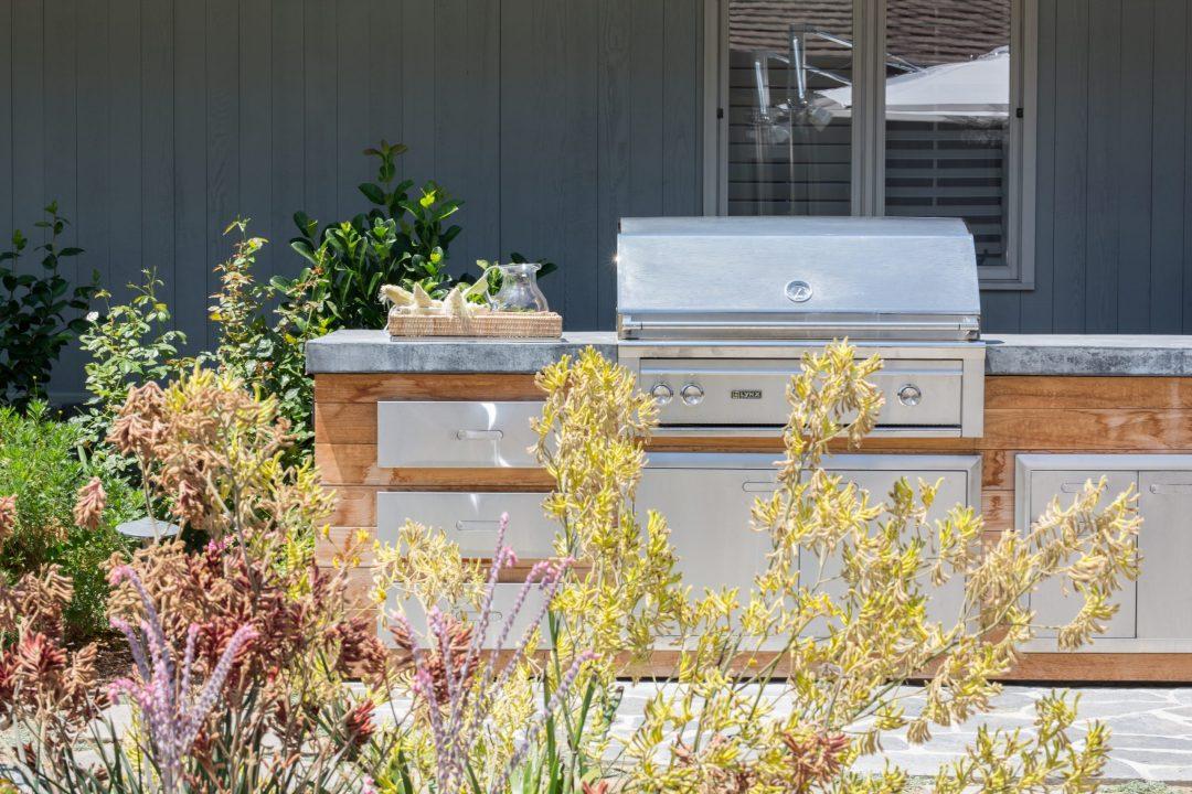 Concrete Counter Outdoor Kitchen