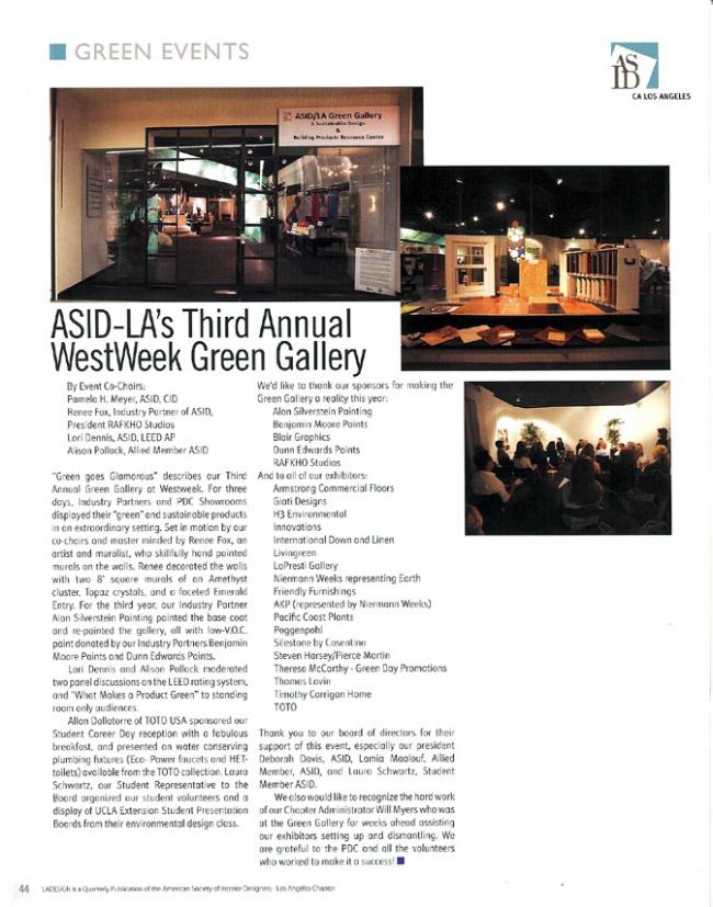 Celebrity Los Angeles Interior Designer Lori Dennis LA Design Magazine Summer 2008