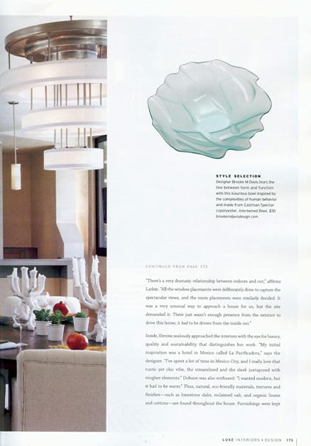 Celebrity Los Angeles Interior Designer Lori Dennis Luxe Magazine November, 2010