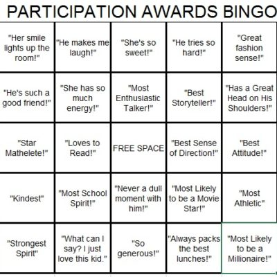 participation awards bingo lori