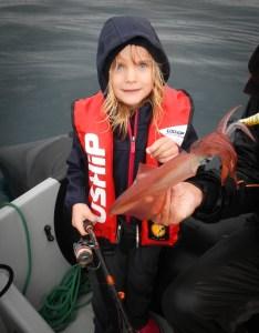 Jeanne et son 1er calamar