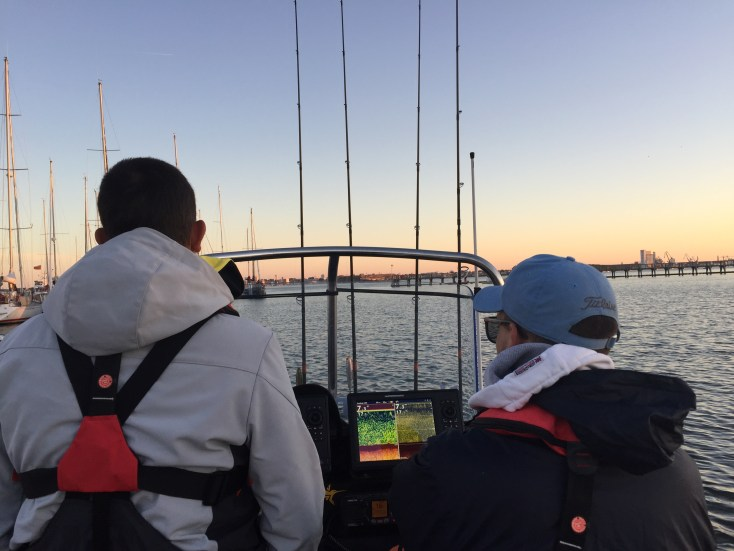 départ en pêche au jig