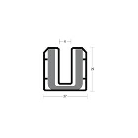 System-90 PLUS U Shaped Channel + Liner glazing system