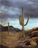Paintings by Lori Garfield : Saguaro Cactus, Original oil painting by artist Lori Garfield, Medford Oregon