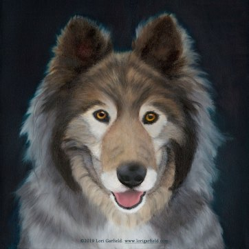Gerty, painting by lori garfield