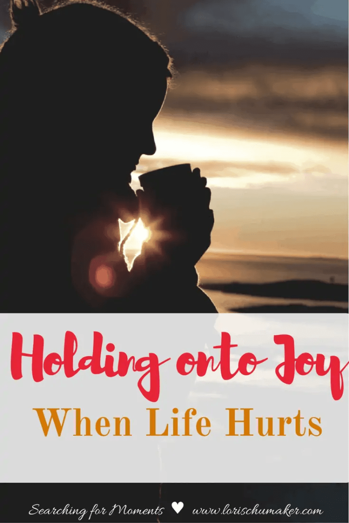 Sometimes the hurt is so deep and the problems so big, joy feels impossible. But is it? Holding onto Joy When Life Hurts will encourage you to let moments of joy fuel you forward and give you hope. -Lori Schumaker