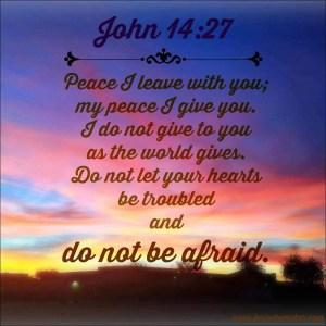 John 14-27; defeat fear