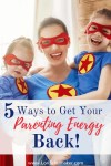 Everyday examples of ways to stop parenting on empty and get your energy back. #exhaustedparent