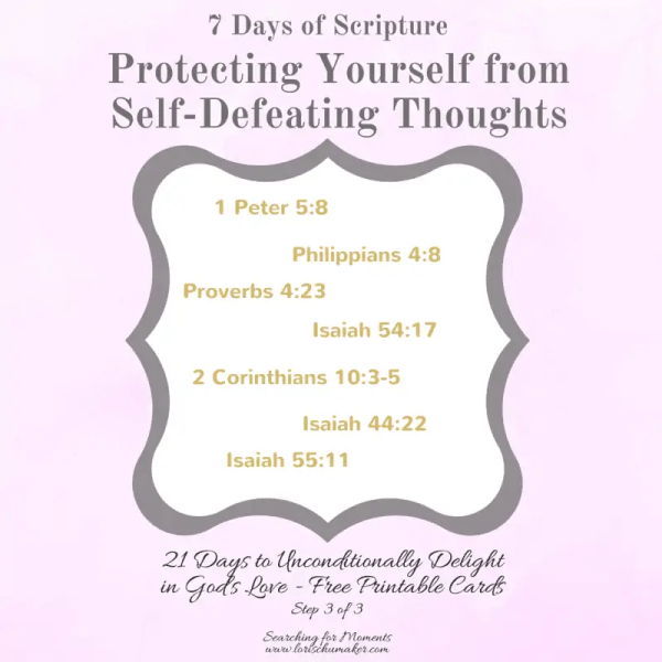7 Scriptures for protection against self defeating thoughts