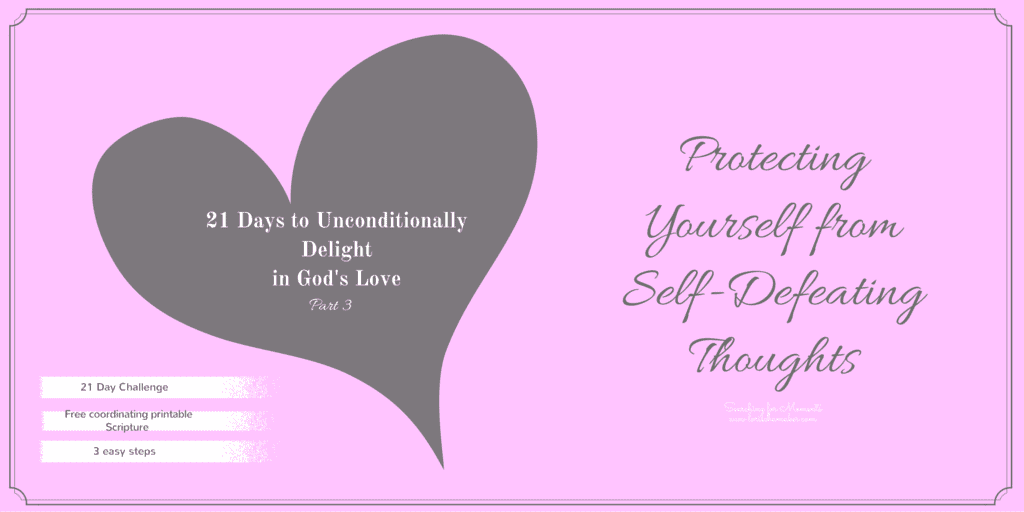 How we love ourselves is only enhanced by the way in which we delight in the unconditional love of God. It's in this process we can learn to protect ourselves from self-defeating thoughts #godslove #mentalhealth #christianencouragement #hope #series #selflove #identity
