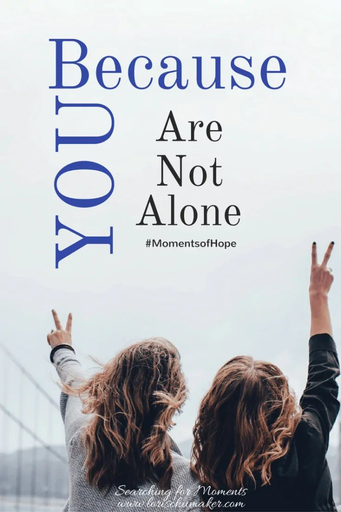 Unqualified. Unabel. Unlikely. Do those words find airtime in your mind when you set out to pursue your passions? Because You Are Not Alone #MomentsofHope - Lori Schumaker