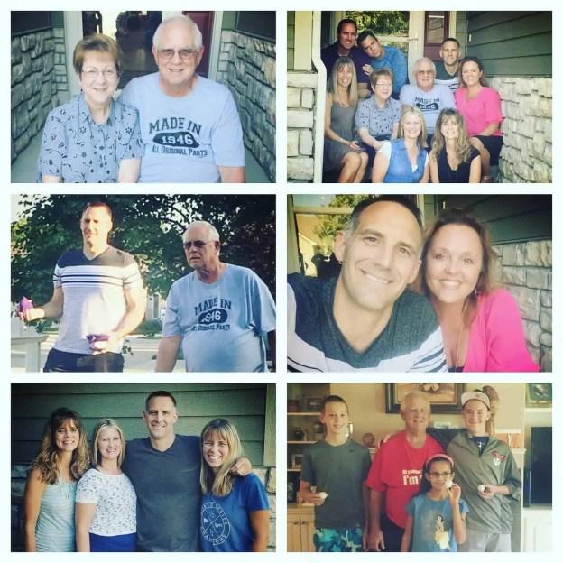 Grandpa Bob's 70th Birthday Celebrations. Love, laughter, and example. #MomentsofHope - Lori Schumaker