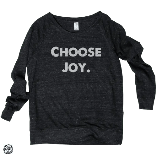 Choose-Joy-Slouchy-Pullover-Black - One Mission
