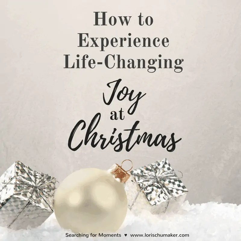 How to Experience Life-Changing Joy at Christmas {Plus Giveaway}
