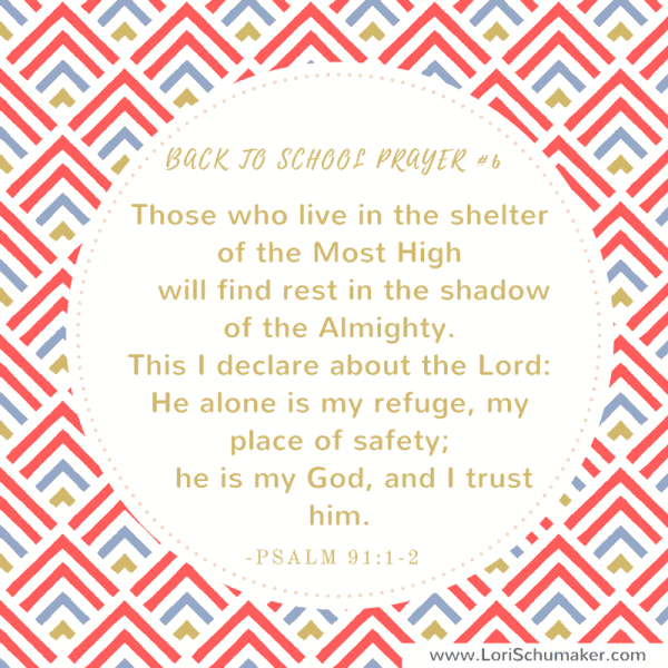 Instead of letting fear or chaos take over your life, pray these back to school Bible verses for your children. Preparing with prayer is the most powerful thing any parent can do. Print these free prayer cards for instant encouragement! Psalm 91:1-2  #printableprayercards #printablebibleversecards #bibleverses #hope #parenting #christianparenting #backtoschool #pandemiceducation #prayer #motherhood #godslove