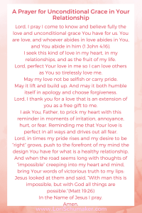 Prayer for Uncondtional Grace  How Unconditional Grace Tranforms Your Relationship   What Is a Healthy Relationship #reconnectingrelationships #relationshiptips #unconditionalgrace #relationships