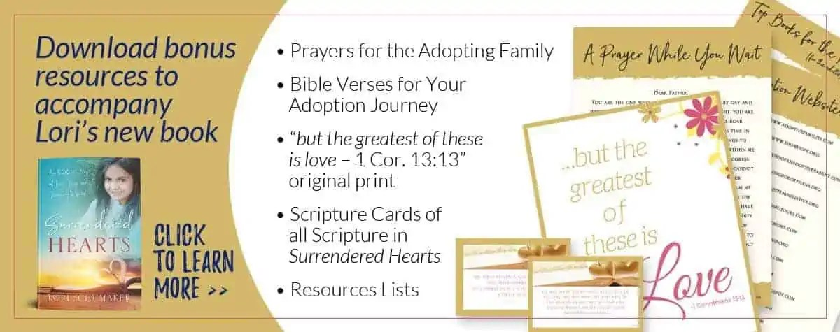 Lori Schumaker: Surrendered Hearts Bonus Resources