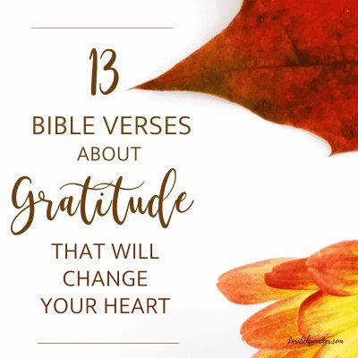 Bible verses about gratitude fill the pages of the Bible. It wasn't a theme God went light on which signifies it is something crucial to our faith walk and to living victoriously. Gratitude is a powerful weapon against defeat and it breathes life into the characteristics we all desire in our lives. Plus a Prayer for Gratitude! (printable) #gratitude #thankfulness #gratefulheart #bibleversesaboutgratitude #bibleverses #wordofgod #listofverses #scriptureverses #prayer #prayerforgratitude #pray #gratitudeprayer