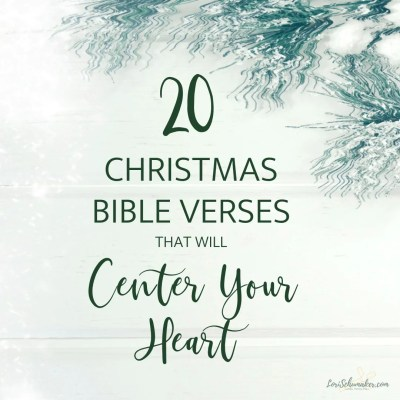 Along with the beauty of Christmas comes the difficult side of Christmas. It can be stressful and it can be painful. But hope remains because Hope was born that Christmas night. These 20 Christmas Bible Verses, as well as a Christmas Prayer will help remind you of that hope and recenter your overwhelmed heart. #christmas #christmasbibleverses #christmasprayer #prayer #hope #godslove #bibleverses #listofverses #scripture