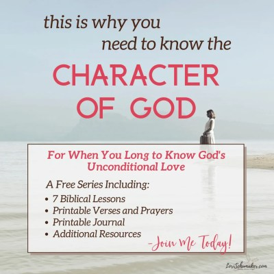 "Do you struggle with really knowing God loves you? With grasping the depth of of that love and its power to change you? One crucial piece to experiencing the fullness of His love is learning about the character of God. Join Lori in this series and grab the free ""God's Unconditional Love Journal."" #godslove #christianliving #bibleverses #prayer #hope #biblicaljournal #freejournal #biblestudy"