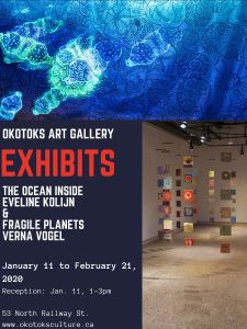 Verna Vogel's Fragile Planets exhibit