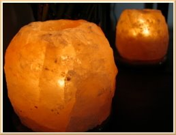 Salt Crystal candle holders