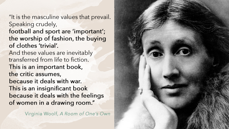 Virginia Woolf values