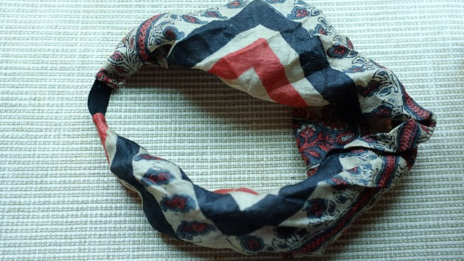 headbands from silk squares