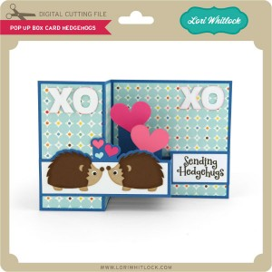 hedgehog pop up card tuesday freebie and new in shop 187 lori whitlock 4658